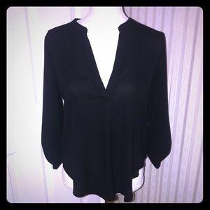 NWOT Sexy Black 3/4 Sleeve Blouse